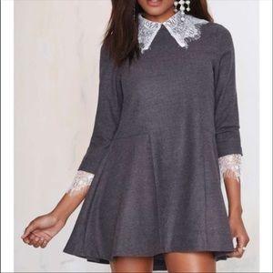 NEW UNIF Doll Lace Collar trim Mini Dress Small